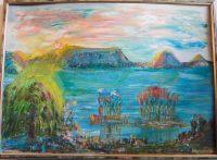 Badacsony festmény Dr. Pusztai Géza