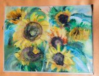 Korponay Margó Napraforgók akvarell festmény  15.000 Ft