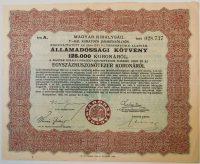 Magyar Királyság Államadóssági Kötvény 1925