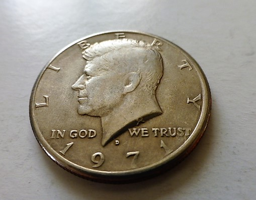 USA fémpénz Kennedy Half Dollár 1971