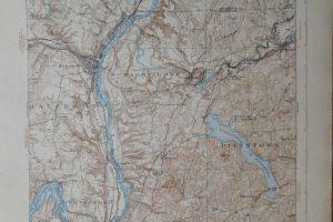 USA New York Troy Cohoes topográfiai térkép 1929