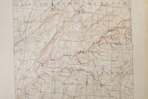 Watertown New York USA topográfiai térkép 1909