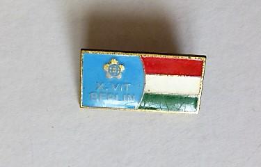 X. VIT Berlin 1973 Világ Ifjúsági Találkozó jelvény