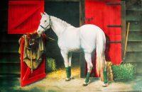 Fémtábla fehér ló 7.900 Ft
