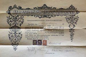 Államvizsgabizonyítvány 1932