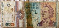 1000 Lei Una Mie Lei 1991 Románia papírpénz 79 Ft