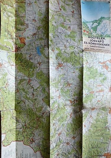 Aggtelek Jósvafő környék turista térkép 1978