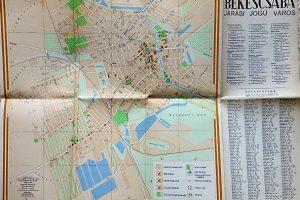 Békéscsaba Járási Jogú Város térkép 1958