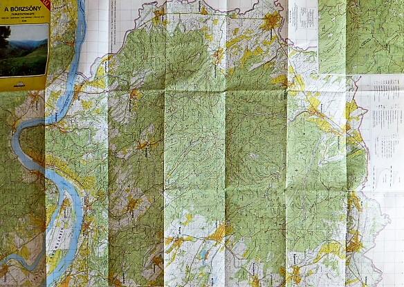 Börzsöny turista térkép 1991