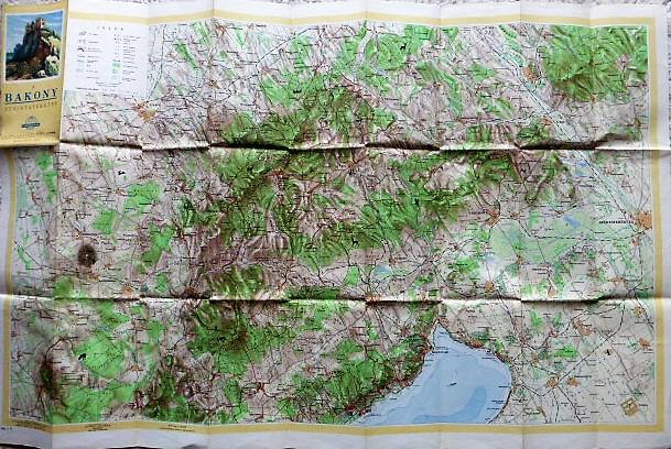 Bakony turista térkép 1958