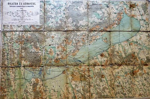 Balaton és környéke térkép 1901