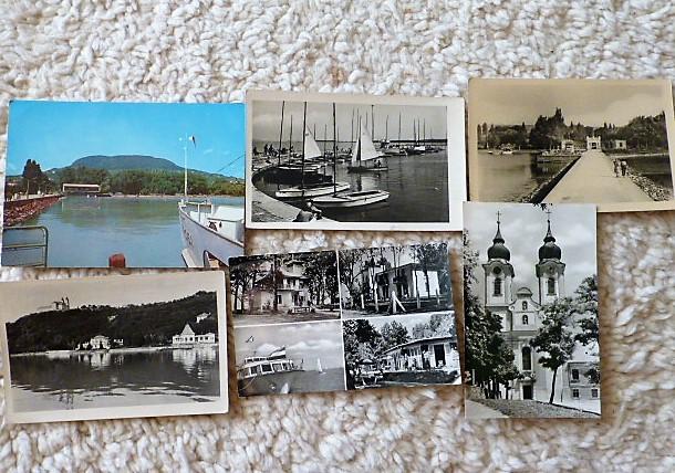 Balaton Badacsony Tihany régi képeslap