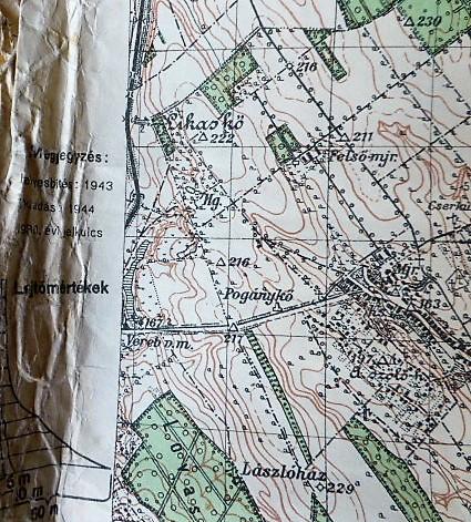 Bicske Etyek Martonvasar Katonai Terkep 1944 Oregpenz