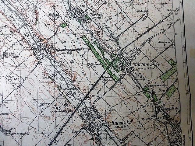 Bicske Etyek Martonvásár katonai térkép 1944 Tordas