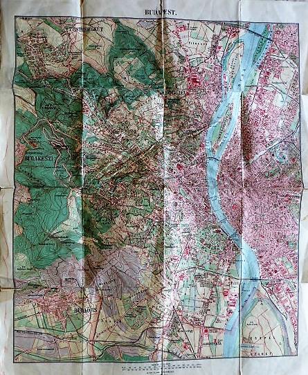 Budapest térkép kirándulóknak 1926