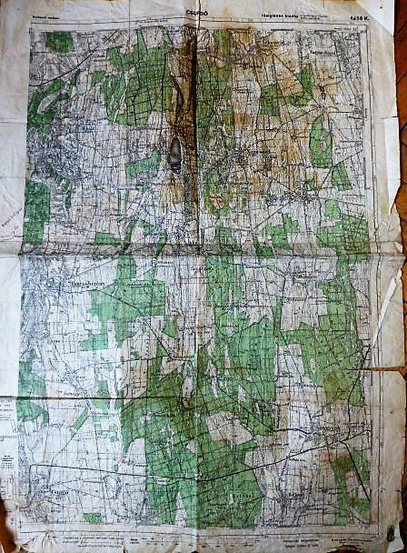 Csurgó Somogyszob katonai térkép 1944