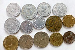 Dinár para fémpénz érme Jugoszlávia