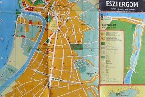 Esztergom térkép 1976