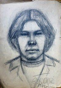 Férfi portré grafika Böröcz 1970 1.490 Ft
