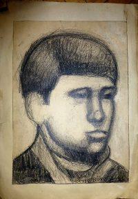 Fiú portré grafika Böröcz 1970  1.490 Ft