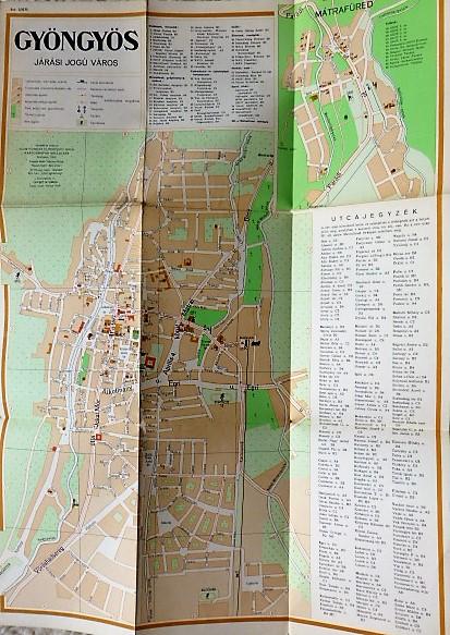 Gyöngyös Járási Jogú Város térkép 1958