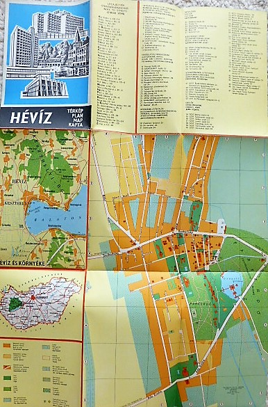 Heviz Terkep 1977 Oregpenz