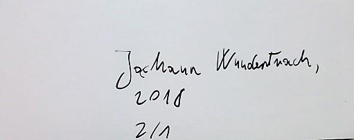 Jochann Wundertracht Secret City Art foto szignált