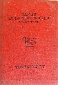 KISZ Kommunista Ifjúsági Szövetség tagkönyv
