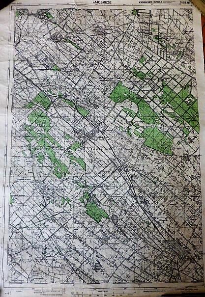 Lajosmizse Örkény Újhartyán katonai térkép 1944