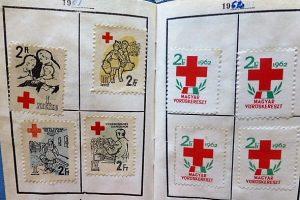 Magyar Vöröskereszt Tagsági könyv 1961 bélyeg