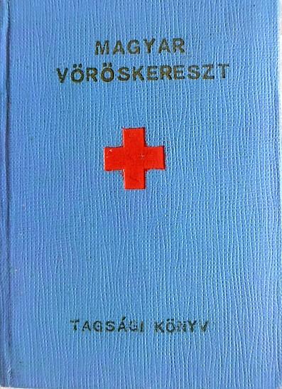 Magyar Vöröskereszt Tagsági köny 1961 bélyeg
