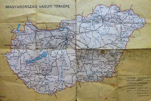 Magyarország Európa vasúti térkép 1971