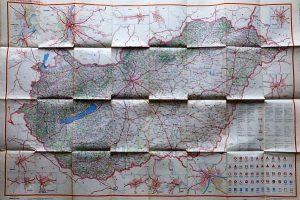 Magyarország auto térkép 1958
