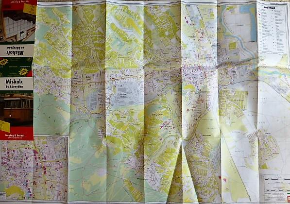 Miskolc és környéke térkép turistautakkal 2003