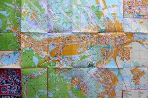 Miskolc térkép 1977