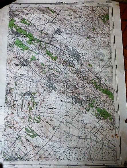 Nagykáta Tápióság Pánd katonai térkép 1943