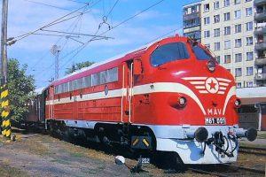 Nohab-GM Dizelvillamos mozdony képeslap