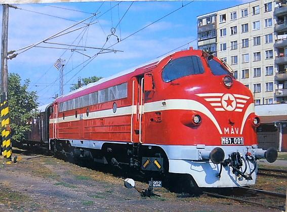Nohab-GM Dizelvillamos mozdony Pozsony kelet állomáson képeslap