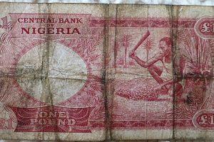 One Pound Nigéria papírpénz