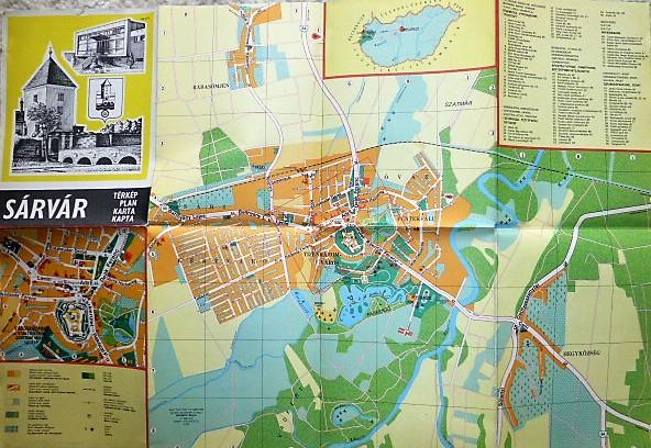 Sárvár térkép 1978