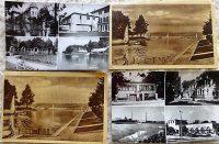 Siófok Balaton régi képeslap fekete fehér
