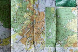 Soproni Hegység turista térkép 1989