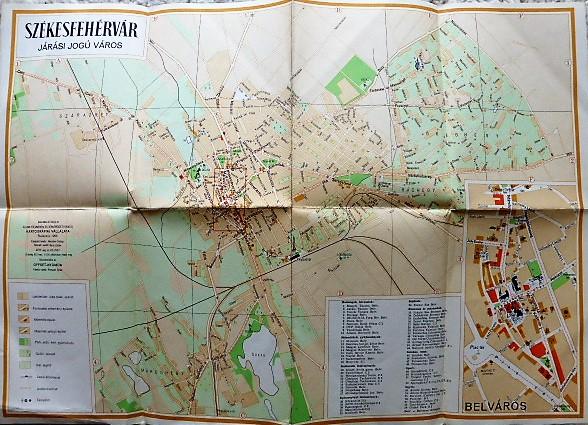 Székesfehérvár Járási Jogú Város térkép 1958