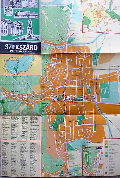Szekszárd térkép 1974