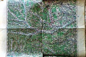 Szombathely és környéke régi térkép 1920-as évek