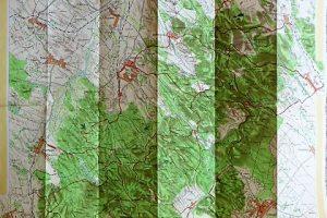 Vértes Hegység turista térkép 1959