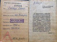 Vasutasok Szakszervezete Tagsági Könyv 1952