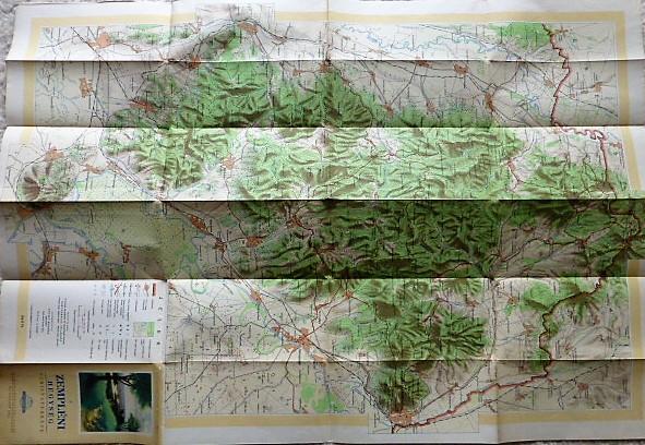 Zemplén Hegység turista térkép 1957