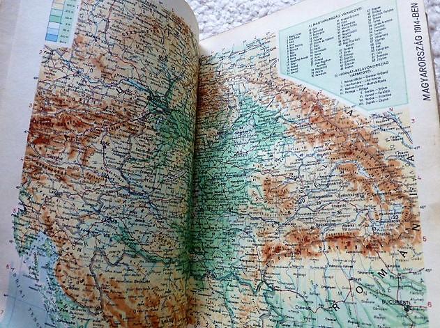 Á.T.I kisatlasz 1934 térkép Magyar Királyi Állami Térképészeti Intézet