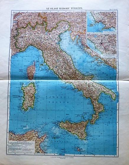 Az Olasz Háború térkép 1915. I világháború